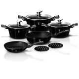 Berlinger Haus 10-Piece Marble Coating Cookware Set - -Royal Black