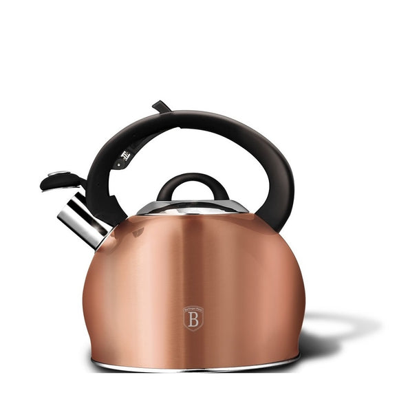 Berlinger Haus 3L Stainless Steel Whistling Kettle - Rose Gold
