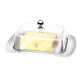 Berlinger Haus 18cm Stainless Steel Butter Dish with Acryl Lid