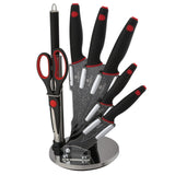 Berlinger Haus 8-Piece Marble Coating Knife Set - Granit Diamond Line