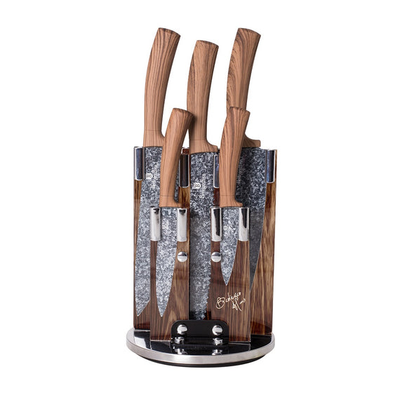 Berlinger Haus 6-Piece Marble Coating Knife Set - Forest Line