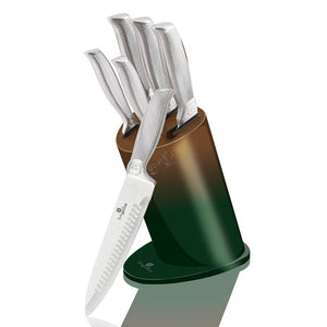 Berlinger Haus 6-Piece Stainless Steel Knife Set - Green Gold