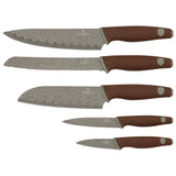 Berlinger Haus 5-Piece Marble Coating Knife Set - Granit Diamond Line