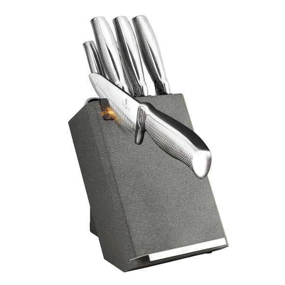 Berlinger Haus 8-Piece Stainless Steel Knife Set - Gray Silver