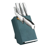 Berlinger Haus 8-Piece Stainless Steel Knife Set - Turquoise Silver