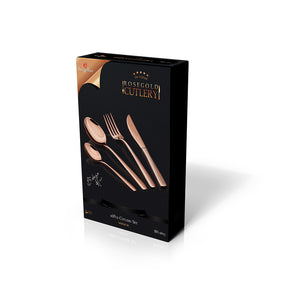 Berlinger Haus 16 Piece Stainless Steel Mirror Finish Cutlery Set - Rose Gold