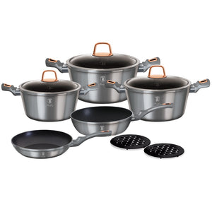 Berlinger Haus 10-Piece Marble Coating Cookware Set - Moonlight Edition