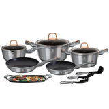Berlinger Haus 12+2 Pieces Marble Coating Cookware Set - Moonlight Edition