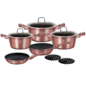 Berlinger Haus 10-Piece Marble Coating Cookware Set - i-Rose Edition