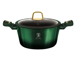 Berlinger Haus 24cm Titanium Coating Casserole with Lid - Emerald Collection