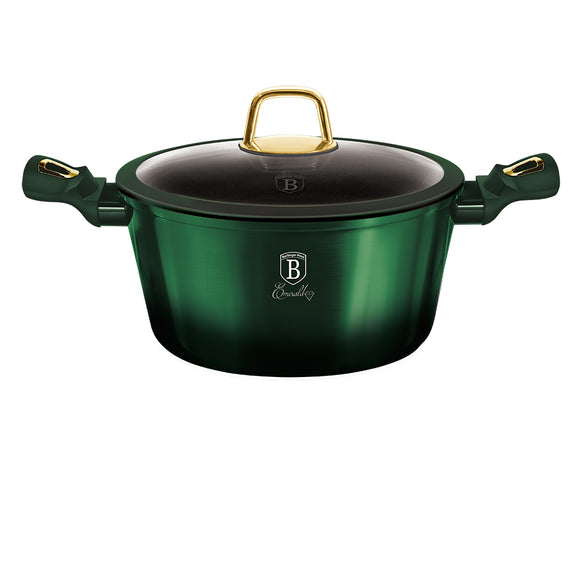 Berlinger Haus 28cm Titanium Coating Casserole with Lid - Emerald Collection