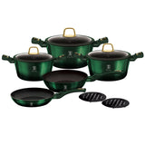 Berlinger Haus 10 Piece Titanium Coating Cookware Set - Emerald Collection