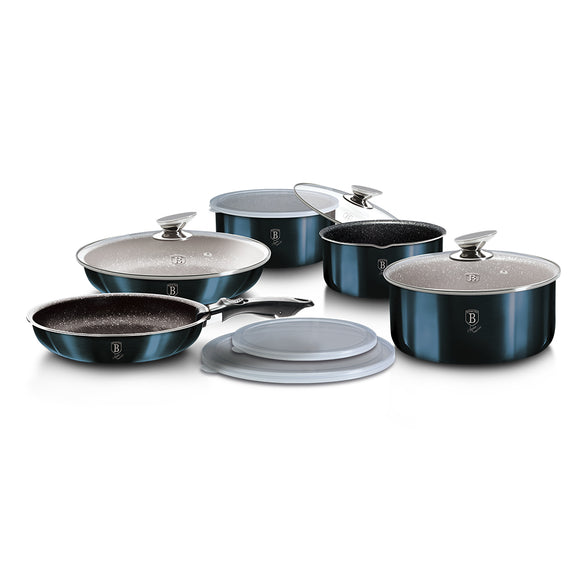 Berlinger Haus 12 Piece Marble Coating Cookware Set - Aquamarine Edition