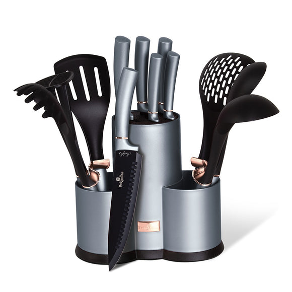 Berlinger Haus 12 Piece Kitchen Knife and Utensil Set - Moonlight