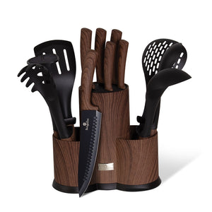 Berlinger Haus 12 Piece Kitchen Knife and Utensil Set - Rose Wood