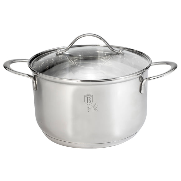 Berlinger Haus 24cm Stainless Steel Casserole with Lid - Silver Jewellery Collection
