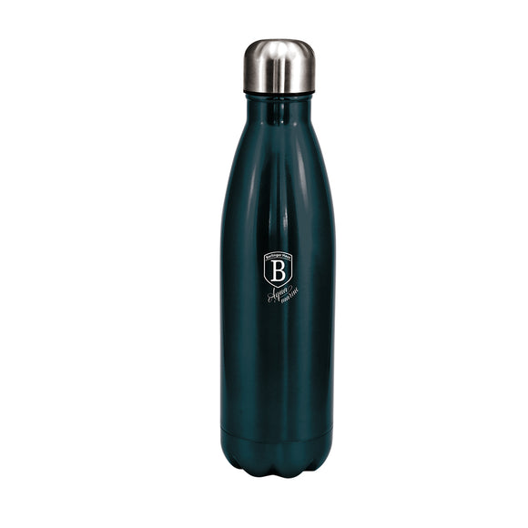 Berlinger Haus 500ml Stainless Steel Thick Walled Bottle Shaped Vacuum Flask - Aquamarine Edition