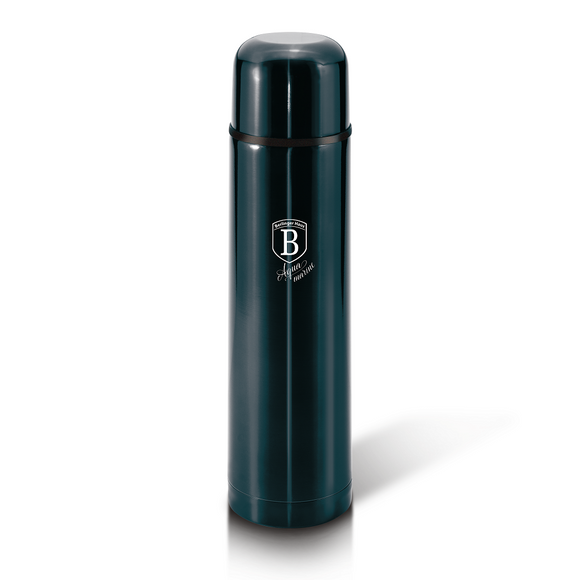 Berlinger Haus 1 Litre Stainless Steel Thick Walled Vacuum Flask - Aquamarine Edition