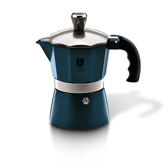 Berlinger Haus 3 Cup Stainless Steel Coffee Maker - Aquamarine Edition