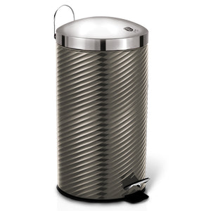 Berlinger Haus 20L Stainless Steel Premium Pedal Bin - Carbon Metallic