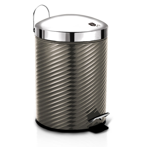 Berlinger Haus 7L Stainless Steel Premium Pedal Bin - Carbon Metallic