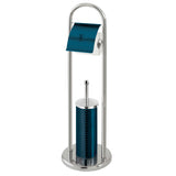 Berlinger Haus Stainless Steel Toilet Brush and Stand - Aquamarine Edition