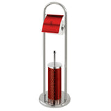 Berlinger Haus Stainless Steel Toilet Brush and Stand - Burgundy Metallic