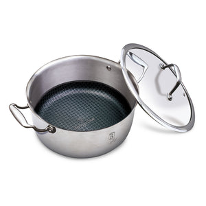 Berlinger Haus 28cm 18/10 Stainless Steel with Eterna Coating Casserole with Lid - Eternal Collection