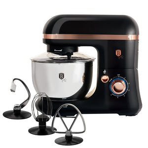 Berlinger Haus 650W Turbo Kitchen Stand Mixer - Black Rose