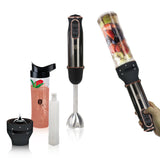 Berlinger Haus Hand Blender with Smoothie Maker - Black Rose