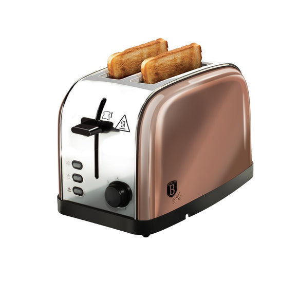 Berlinger Haus 2-Slice Toaster Rose Gold Metallic