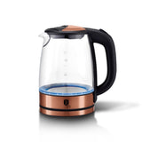 Berlinger Haus 2200W Electric Glass Kettle - Rose Gold Metallic