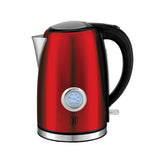 Berlinger Haus 1.7 Litre Stainless Steel Electric Kettle with Thermostat - Burgundy Metallic