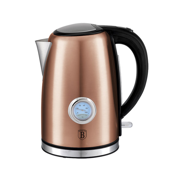 Berlinger Haus 1.7 Litre Stainless Steel Electric Kettle with Thermostat - Rose Gold Metallic