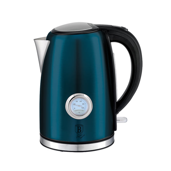 Berlinger Haus 1.7 Litre Stainless Steel Electric Kettle with Thermostat - Aquamarine Edition