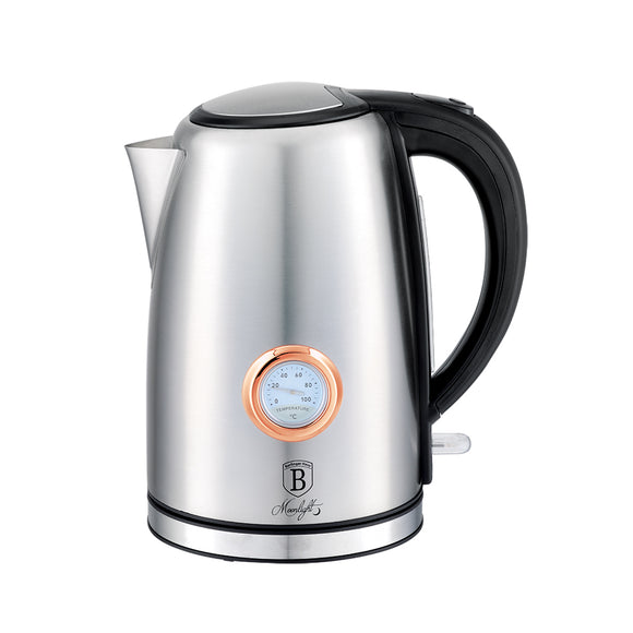 Berlinger Haus 1.7 Litre Stainless Steel Electric Kettle with Thermostat - Moonlight Edition