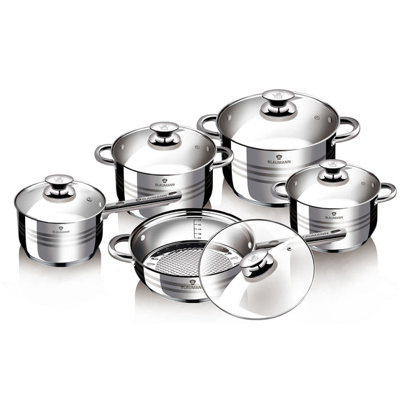 Blaumann 10-Piece Stainless Steel Cookware Set Gourmet Line