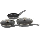Blaumann 5-Piece Diamond Coating Frypan Set Diamond Cellection