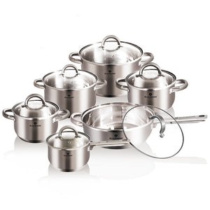 Blaumann 12-Piece Stainless Steel Cookware Set Gourmet Line