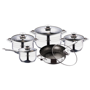 Blaumann 10-Piece Stainless Steel Cookware Set - Gourmet Line