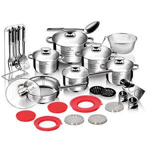 Blaumann 32-Piece Stainless Steel Cookware Set Gourmet Line