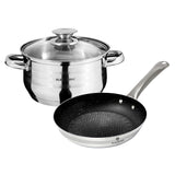 Blaumann 3-Piece Stainless Steel Cookware Set Gourmet Line