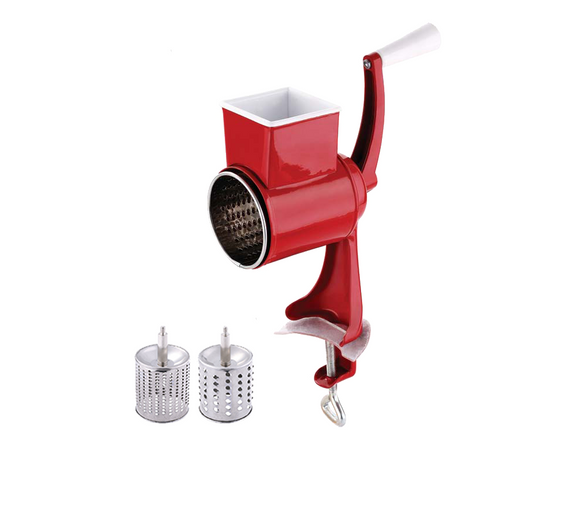 Blaumann 22cm Carbon Steel Nut Grinder & Cheese Grater - Red
