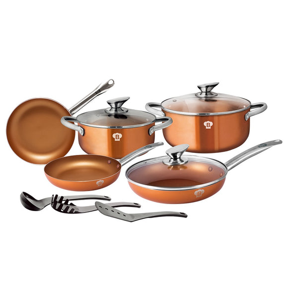Blaumann 10-Piece Copper Ceramic Coating Cookware Set Le Chef Collection