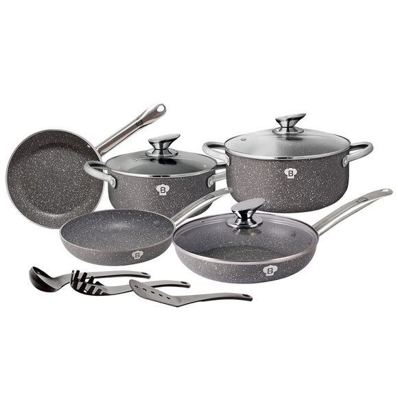Blaumann 11-Piece Stone Coating Cookware Set Le Chef Collection