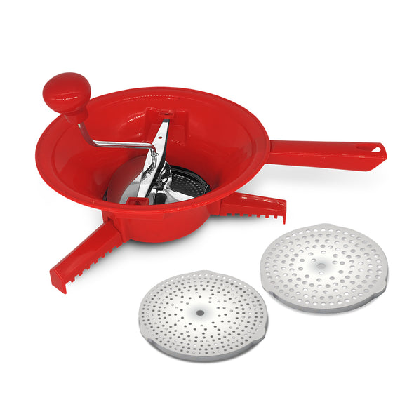 Blaumann 24cm Stainless Steel and PP Multi-Fruit Extractor - Red