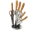 Blaumann 8-Piece Stainless Steel Knife Set With Stand
