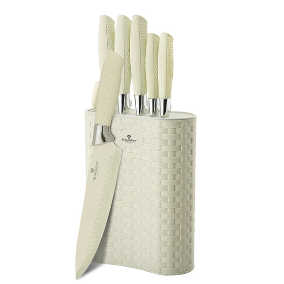 Blaumann 7-Piece Stainless Steel Non-Stick Coating Knife Set