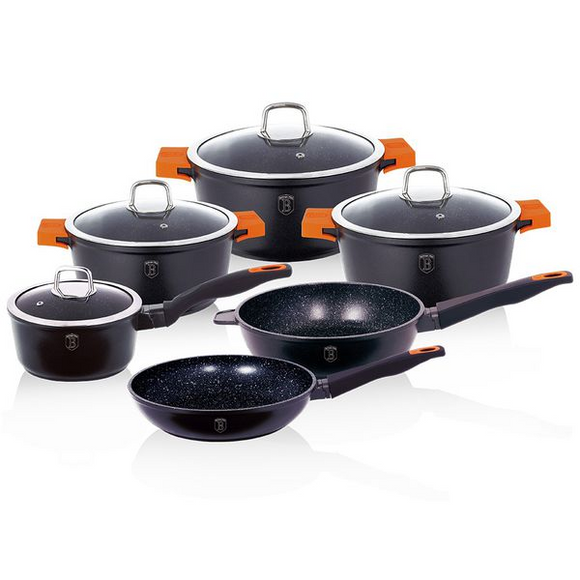 Berlinger Haus 10 Piece Marble Coating Cookware set - Granit Diamond Line