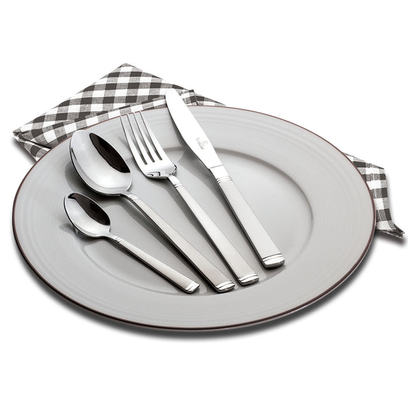 Berlinger Haus 24-Piece Stainless Steel Sand Cutlery Set - Crystal Shine